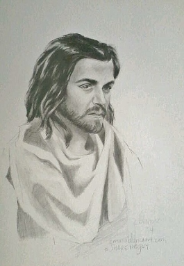 #BecauseHeLives in pencil on Arches hot press wc