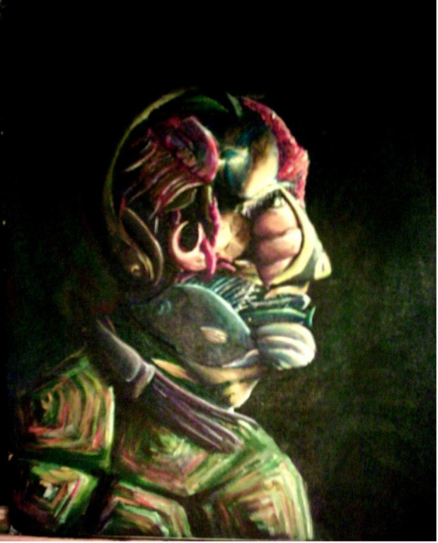 Fish Face, acrylic 2003