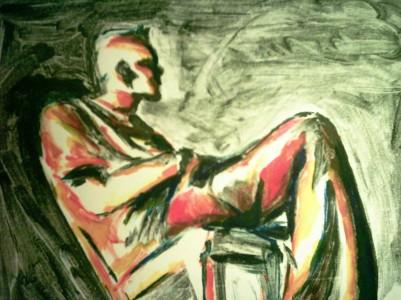 Terry 2, monoprint, 2004